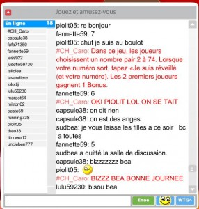Chat Online Bingo
