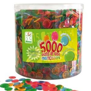 Pions de loto bingo multicolores