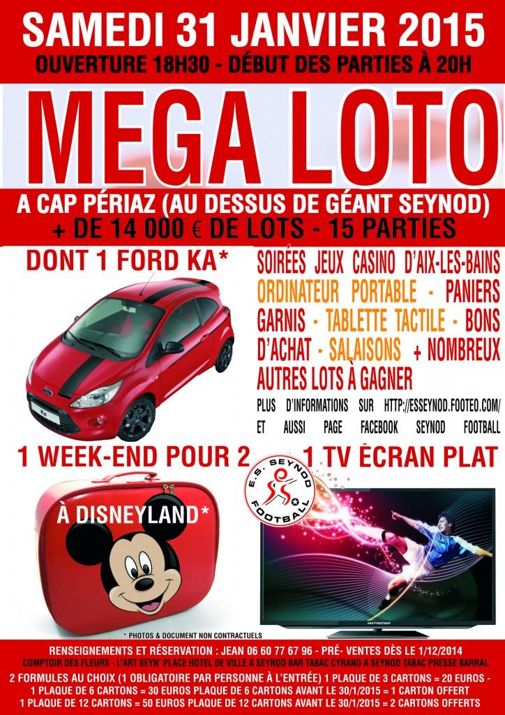Affiche loto bingo Seynod janvier 2015